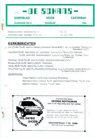 Castenrays dorpsblad De Schans 1986-06-20
