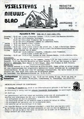 Ysselsteyns Nieuwsblad 1983-08-26