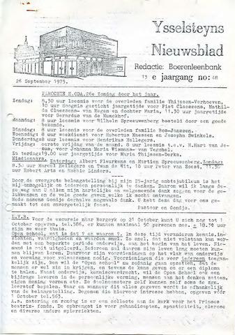Ysselsteyns Nieuwsblad 1975-09-26