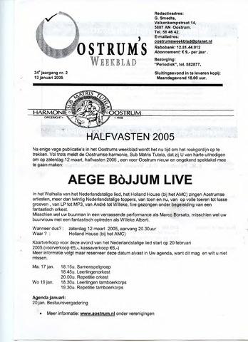 Oostrum's Weekblad 2005-01-13