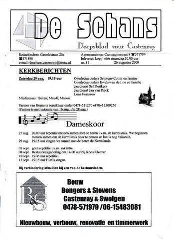 Castenrays dorpsblad De Schans 2009-08-26