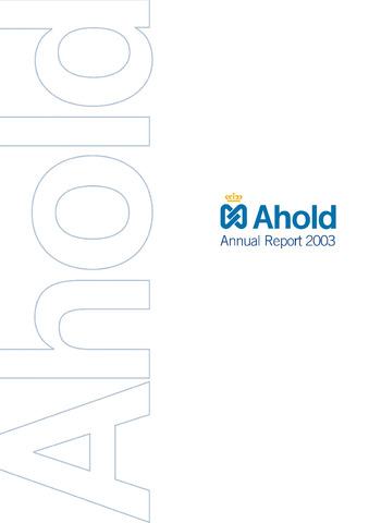 Jaarverslagen 2003