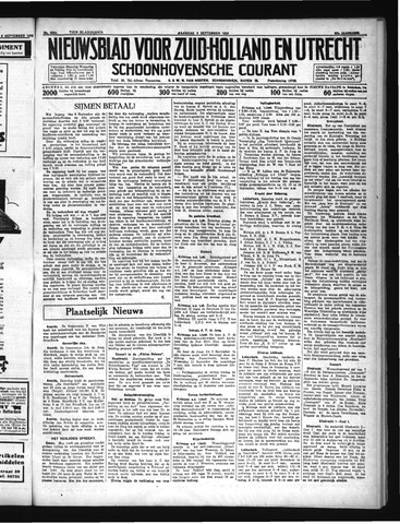 Schoonhovensche Courant 1935-09-09