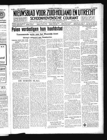 Schoonhovensche Courant 1939-09-11