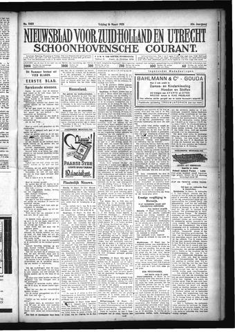 Schoonhovensche Courant 1928-03-16