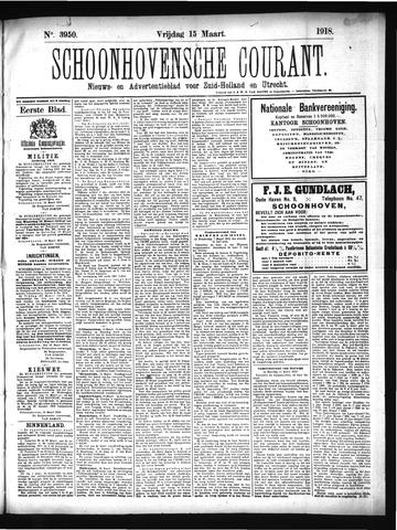 Schoonhovensche Courant 1918-03-15