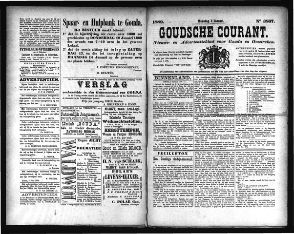 Goudsche Courant 1889-01-07