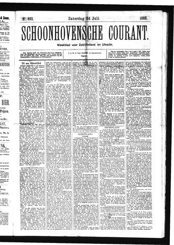 Schoonhovensche Courant 1886-07-24