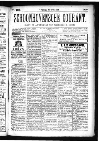 Schoonhovensche Courant 1919-10-31