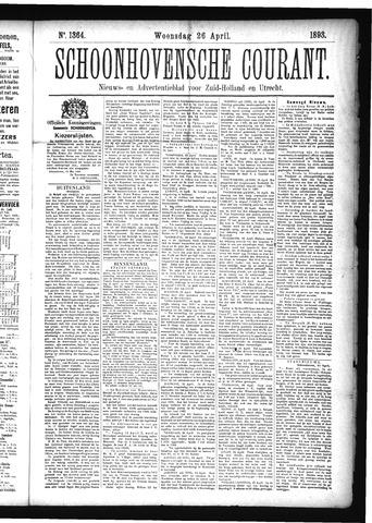 Schoonhovensche Courant 1893-04-26