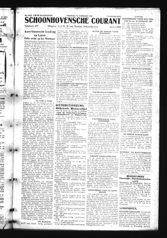 Schoonhovensche Courant 1945-01-12