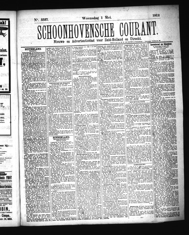 Schoonhovensche Courant 1912-05-01