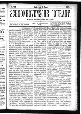 Schoonhovensche Courant 1885-06-06