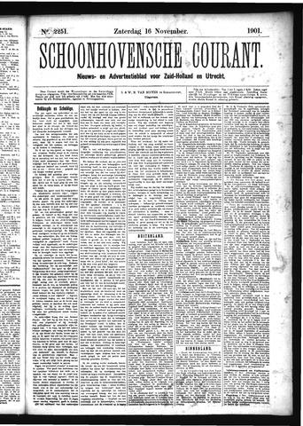 Schoonhovensche Courant 1901-11-16