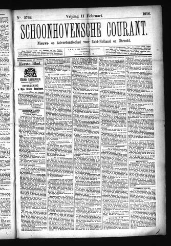 Schoonhovensche Courant 1916-02-11