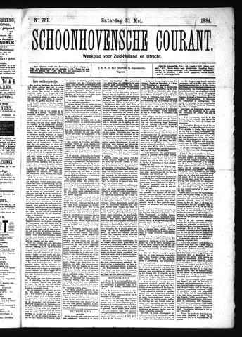 Schoonhovensche Courant 1884-05-31