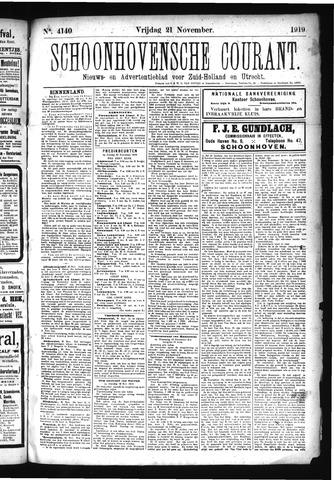 Schoonhovensche Courant 1919-11-21