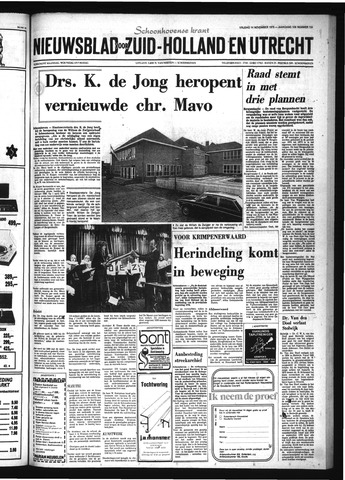 Schoonhovensche Courant 1975-11-14