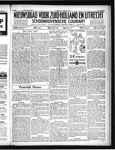 Schoonhovensche Courant 1935-02-18
