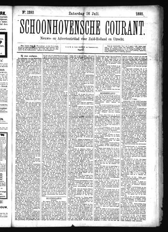 Schoonhovensche Courant 1892-07-16