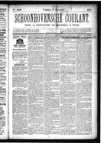 Schoonhovensche Courant 1915-10-15