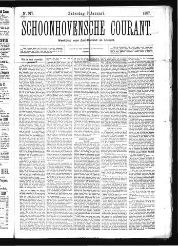 Schoonhovensche Courant 1887-01-08