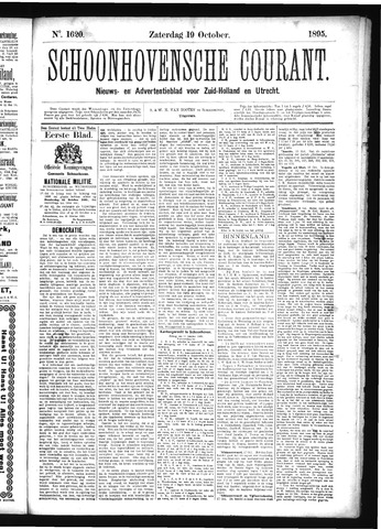 Schoonhovensche Courant 1895-10-19