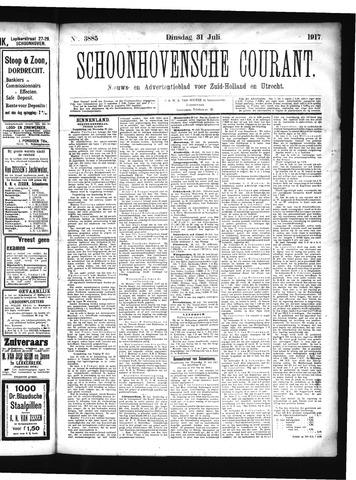 Schoonhovensche Courant 1917-07-31