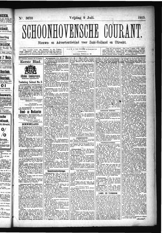 Schoonhovensche Courant 1915-07-09