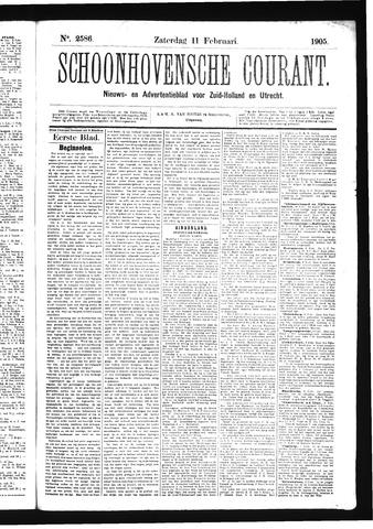 Schoonhovensche Courant 1905-02-11