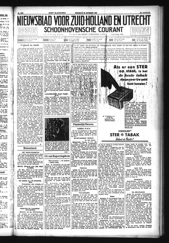 Schoonhovensche Courant 1933-11-29