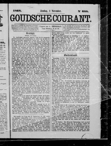 Goudsche Courant 1868-11-01