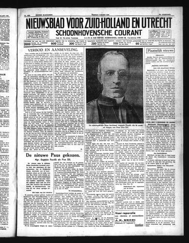 Schoonhovensche Courant 1939-03-03