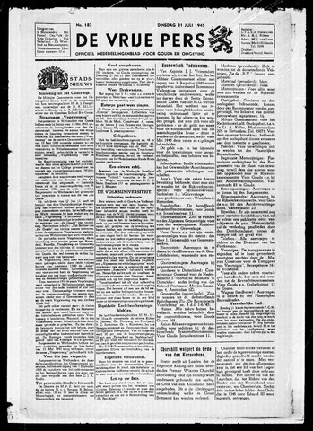 De Vrije Pers 1945-07-31
