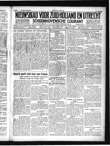 Schoonhovensche Courant 1939-03-29