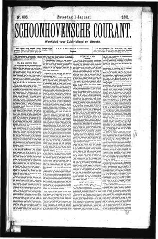 Schoonhovensche Courant 1881-01-01