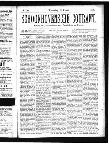 Schoonhovensche Courant 1891-03-11