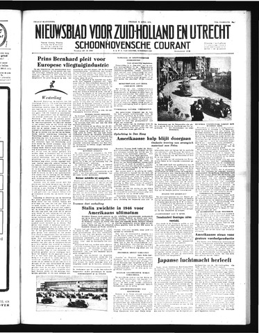 Schoonhovensche Courant 1952-04-25