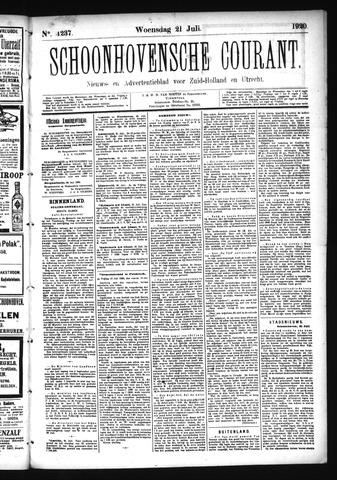 Schoonhovensche Courant 1920-07-21