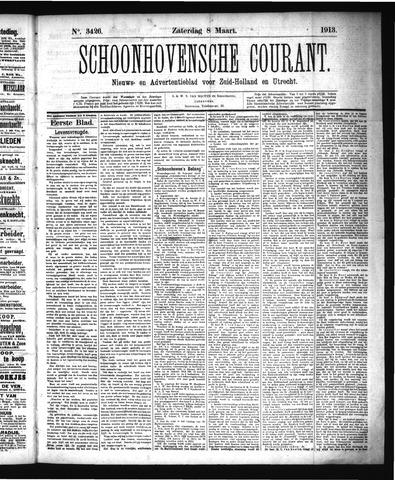 Schoonhovensche Courant 1913-03-08