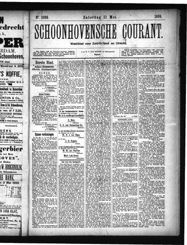 Schoonhovensche Courant 1889-05-11