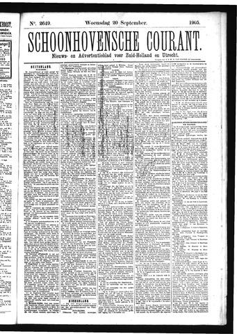 Schoonhovensche Courant 1905-09-20