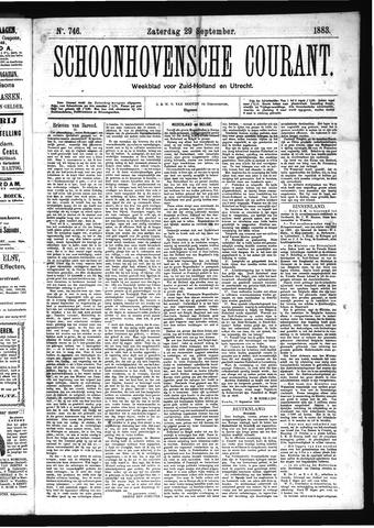Schoonhovensche Courant 1883-09-29