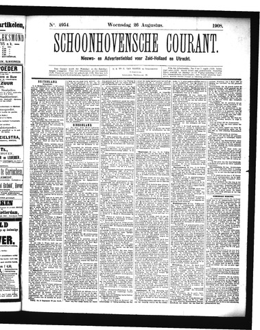 Schoonhovensche Courant 1908-08-26