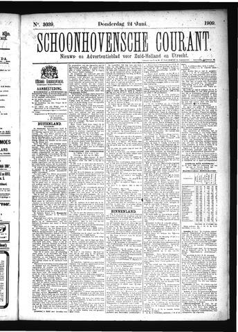 Schoonhovensche Courant 1909-06-24