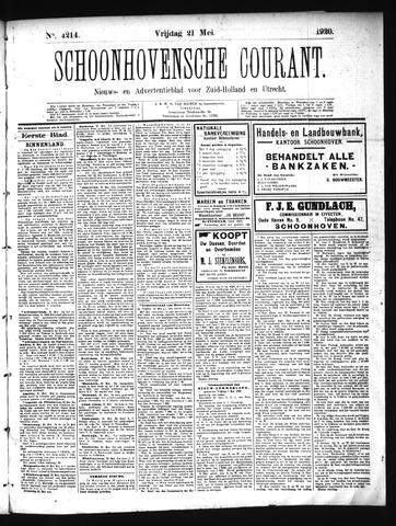 Schoonhovensche Courant 1920-05-21