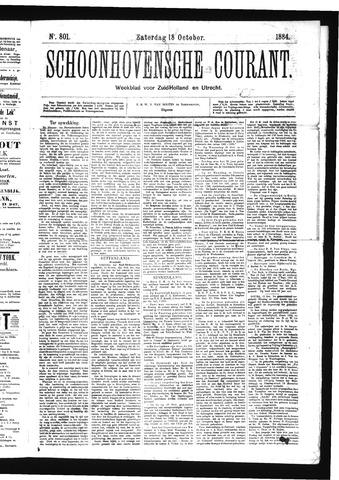 Schoonhovensche Courant 1884-10-18