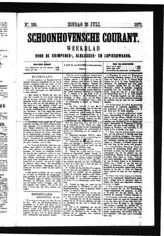 Schoonhovensche Courant 1871-07-23