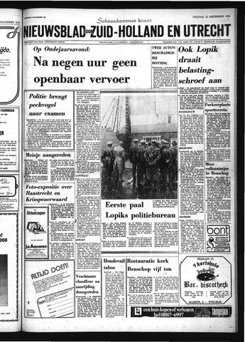 Schoonhovensche Courant 1974-12-13