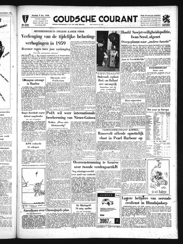Goudsche Courant 1958-12-09